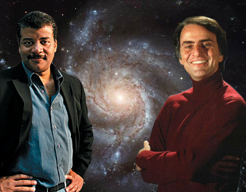 Neil deGrasse Tyson og Carl Sagan